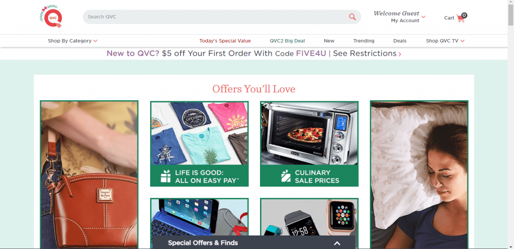 QVC Official Site - Online Shop - My Account - Shopping